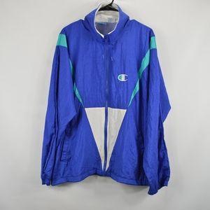 Vintage 90s Champion New Large Windbreaker Jacket
